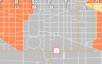 Karte HUB Zone Weisses Haus