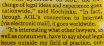Interview zum Nutzen von EMail 1993