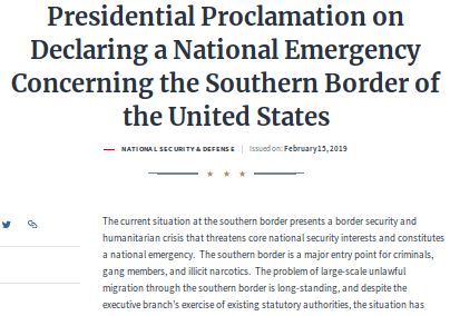 Trump Declaration of National Emergency